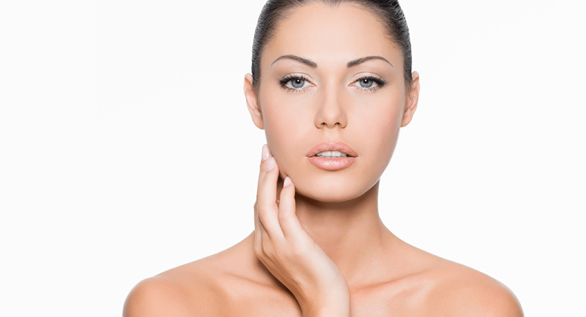 feature image for VISIA skin and complexion analysis with woman facing camera with flawless skin