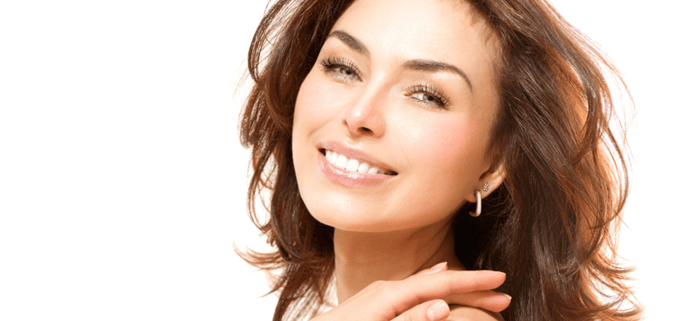 Smiling woman banner image for clearlift 4D anti-ageing treatment