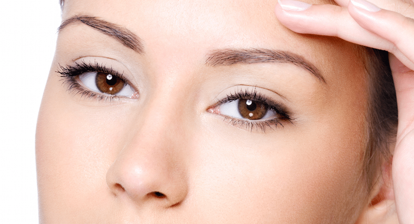 Woman's eyes with white background as feature image for plexR treatment